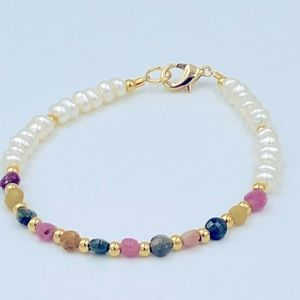 Bracelet, Pearls, Gold and Tourmaline